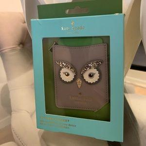 Kate Spade Star Bright Owl Sticker Pocket